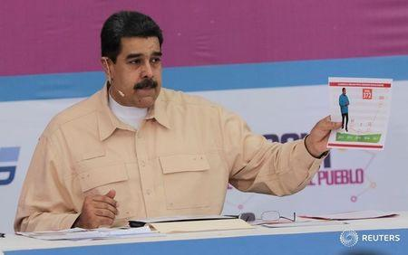 "Venezuela's President Nicolas Maduro speaks during his weekly radio and TV broadcast ""Los Domingos con Maduro"" (The Sundays with Maduro) in Caracas"