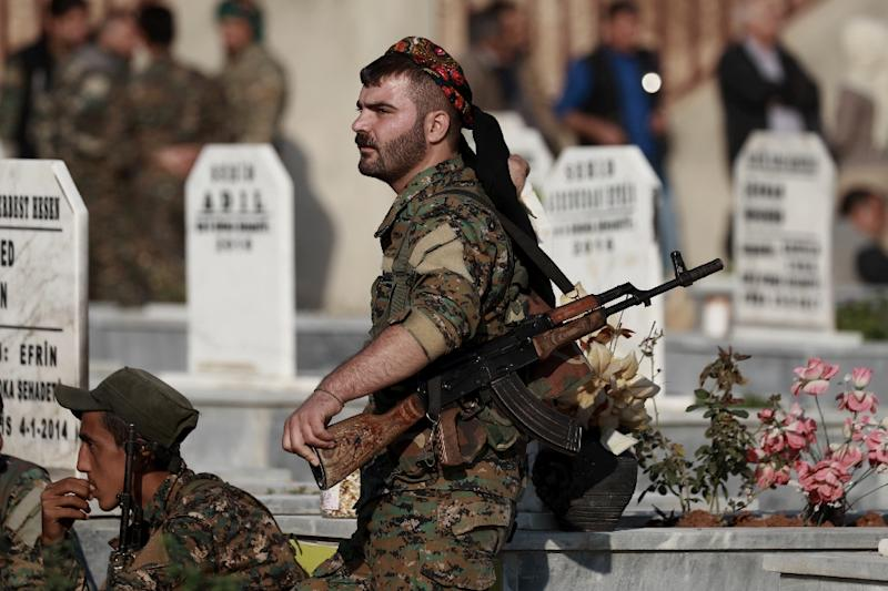 The Kurdish-led Syrian Democratic Forces (SDF) warned that any attack by Ankara could undermine the fight against IS (AFP Photo/Delil SOULEIMAN)