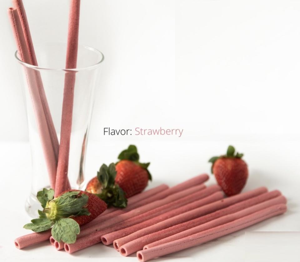 Nom straws are available in 6 flavours: Vanilla, Strawberry, Lemon, Mint, Coffee and Chocolate