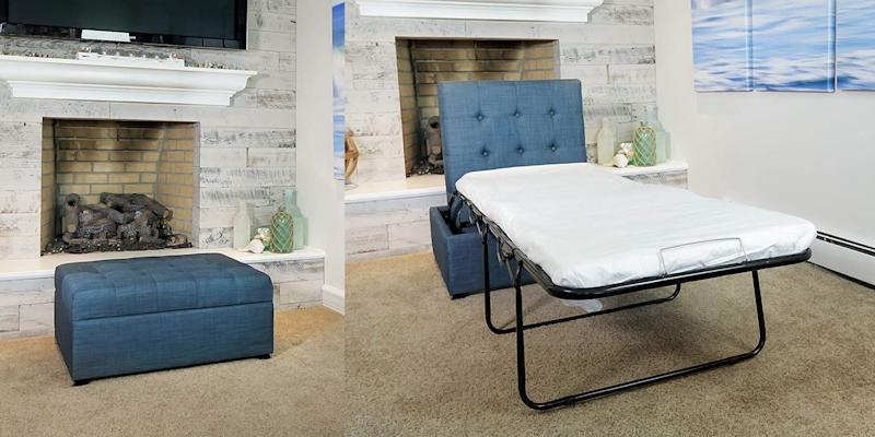 Awesome This Ottoman Pulls Out Into A Bed And Its The Best 200 Customarchery Wood Chair Design Ideas Customarcherynet