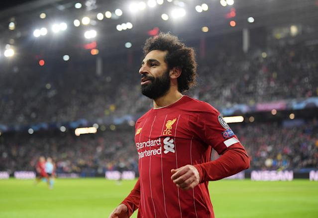 Liverpool's second came less than a minute later as Salah sealed the win. (Photo by Michael Regan/Getty Images)