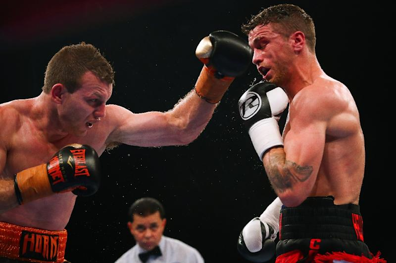 Image result for Jeff Horn retains title after TKO win over Corcoran