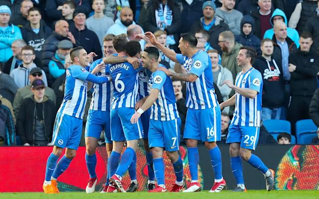 "Many of the Brighton fans packed into the Amex Stadium on Saturday will still remember the immortal words 'And Smith must score' and those who do not may soon be getting a history lesson if the club's Cup run continues. The last time Brighton were a top-flight club, they reached the final of the FA Cup in 1983 and lost in a replay to Manchester United. Gordon Smith has the dubious honour of being the man, referred to in the famous radio commentary, who should have won the first game for Brighton. There was even a fanzine named after him. Brighton may still be a couple of games away from the final, but a first quarter-final place for 32 years, in the season they are back in the top flight, has got the club's supporters dreaming of another Wembley appearance and a chance to finally avenge Smith's miss. Unlike at other grounds in this season's FA Cup, there were no large sections of empty seats at the Amex, despite the fact Brighton were entertaining League Two opposition. Manager Chris Hughton made nine changes for the visit of Coventry City, but there was never much prospect of an upset. Jurgen Locadia celebrates scoring his first goal for the club Credit: Getty Images Record signing Jurgen Locadia scored on his Brighton debut, while Leonardo Ulloa netted for the first time since returning to the club on loan from Leicester City. Locadia should really have finished with a hat-trick, as the £15million buy from PSV Eindhoven made a lively start to his Seagulls career. He hit the post in just the fifth minute with a hooked shot from a corner that Coventry failed to clear, but found the net 10 minutes later. Anthony Knockaert, who Coventry's defenders could not cope with, sent in a low cross from the right and the ball was deflected into the path of Locadia, who made no mistake from eight yards. Just two minutes before Locadia's opener, Coventry had gone within inches of breaking the deadlock. Jordan Shipley's corner was met by Johnson Clarke-Harris, but his header rattled the crossbar. Goldson's goal was his first in two years Credit: Getty Images Locadia was presented with a great chance to double his and Brighton's tally in the 23rd minute, but he completely missed the ball with the goal gaping. And shortly afterwards, he somehow diverted the ball wide after sliding to meet a low cross into the area from Markus Suttner. ""To get off mark early was good for Jurgen,"" said Hughton. ""He is here to score goals. He has a flexibility about him, but we are still learning about him. You saw that in his game as he was drifting out. He came to us in January and had had a good first half of the season in Holland."" Coventry were punished further with 11 minutes of the first half remaining. Another Suttner delivery found the head of Connor Goldson, who made no mistake. The goal was Goldson's first for almost two years, during which time he underwent heart surgery. Hughton swapped his goalkeeper at the break, sending on Niki Maenpaa to replace the injured Tim Krul, but it was Coventry's Lee Burge who was soon picking the ball out of his net again. Just after the hour mark, Bruno's high cross found Ulloa and the Argentine directed his header past Burge to chalk up his first goal of the season. Johnson Clarke-Harris (L) celebrates getting a consolation goal for Coventry with Jordan Ponticelli Credit: PA For Coventry, this season's FA Cup has provided some relief and distraction from years of turmoil at the hands of controversial owners Sisu. The 1987 winners beat Stoke City and Milton Keynes Dons to reach the fifth round and they at least sent their travelling army home with something to cheer from their day out in Brighton. Burge pumped forwards a long clearance that made its way into the Brighton penalty area. Goldson tried to head clear, but the ball fell to Clarke-Harris, who rifled a shot into the net to send the Coventry fans wild. ""I thought we were good,"" said Coventry manager Mark Robins. ""It has been a positive experience for us and, hopefully, it can help us have a strong finish in League Two."""