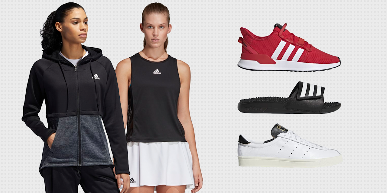 """<p>Over the past few decades, Adidas has become one of the most beloved activewear brands around. We go to Adidas for everything, and we mean <em>everything—</em>from pristine shoes that elevate our street style game (hello, <a href=""""https://www.adidas.com/us/stan-smith-shoes/M20324.html"""" target=""""_blank"""">Stan Smiths!</a>) to comfortable sweatpants for our post-workout outfit. <br></p><p>In honor of its 70th year in business, Adidas is currently offering up to <a href=""""https://www.adidas.com/us/anniversary_sale"""" target=""""_blank"""">70 percent off select clothes and accessories.</a> Whether you're in the market for some new kicks, a fresh sweatsuit, or something to wear as you master the art of Taekwondo (really!), there's something in the sale for everybody. </p><p>The catch? Today is the last day you can reap the rewards, so we recommend adding a style or two (okay, maybe a few) to your cart, stat. To help, we're sharing some of our favorite finds, below.</p>"""