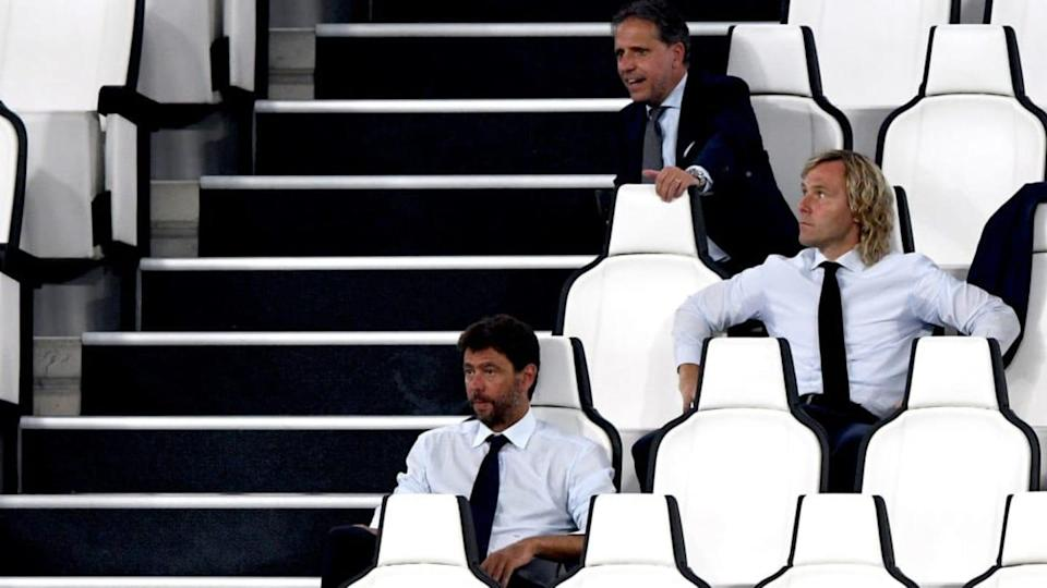 Agnelli con Paratici e Nedved | Chris Ricco/Getty Images