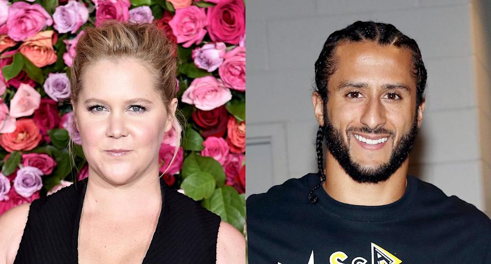 Amy Schumer and Colin Kaepernick. (Photo: Getty Images)