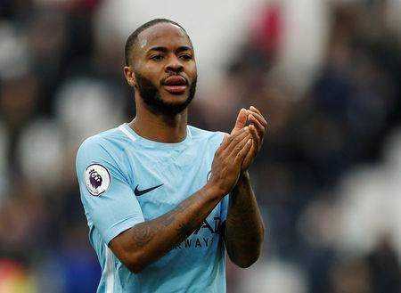 Soccer Football - Premier League - West Ham United v Manchester City - London Stadium, London, Britain - April 29, 2018 Manchester City's Raheem Sterling applauds the fans after the match Action Images via Reuters/John Sibley