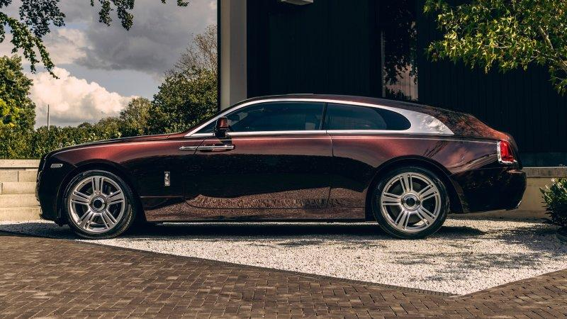 The Silver Spectre is a custom shooting brake based on the Rolls Wraith