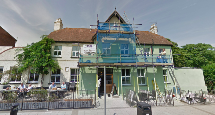 <em>The boy died after falling from a wall at the King Harold pub in Romford (Google)</em>