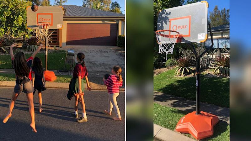 Brightwater father Trent Robinson was fined after he installed a basketball hoop for his children and others in his Sunshine Coast neighbourhood to use.