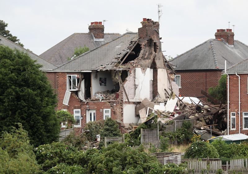 <strong>The house was reduced to rubble in the blast</strong> (PA Wire/PA Images)