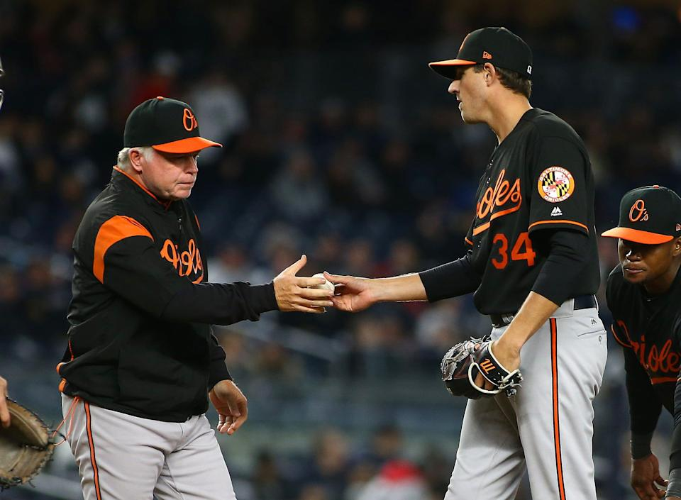 Kevin Gausman posted a 4.22 ERA in six seasons with the Orioles.