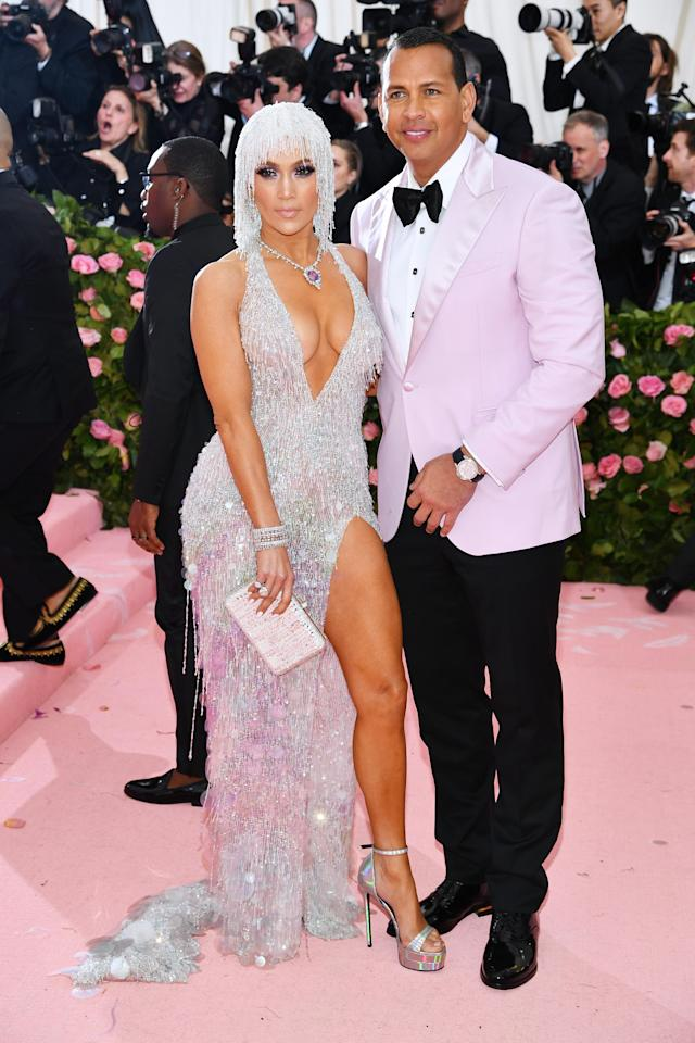 Jennifer Lopez and Alex Rodriguez attend The 2019 Met Gala Celebrating Camp: Notes on Fashion at Metropolitan Museum of Art on May 06, 2019 in New York City. (Photo by Dimitrios Kambouris/Getty Images for The Met Museum/Vogue)