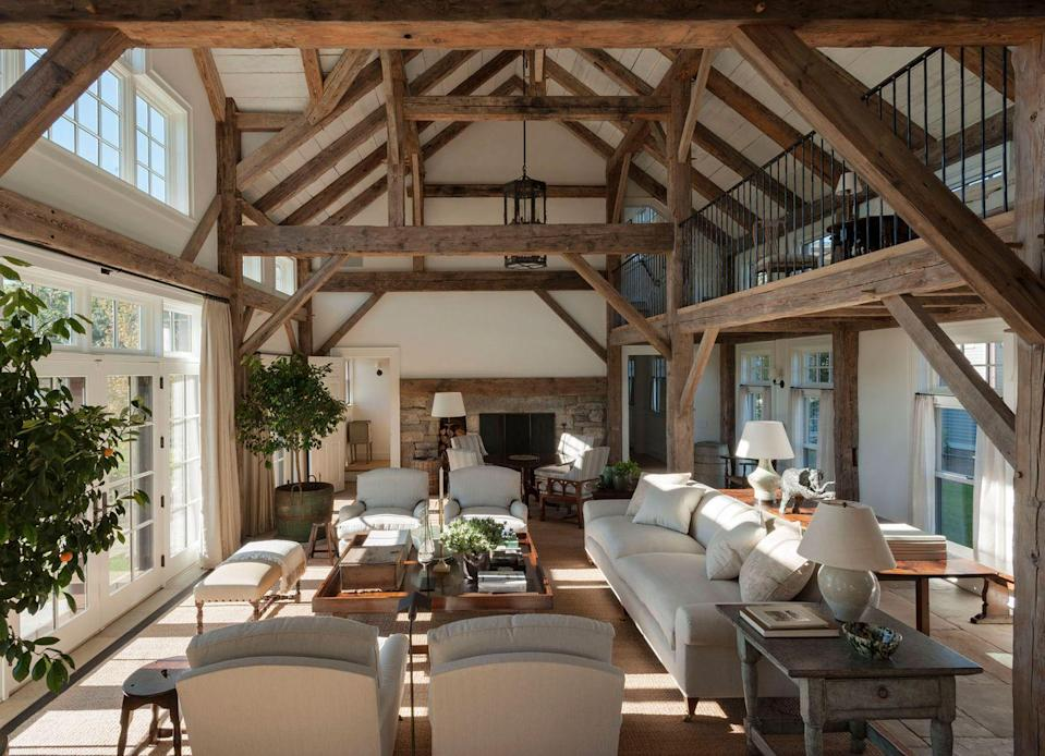 """<p>""""I think people want a living room that is comfortable, approachable, usable, and functional,"""" says <a href=""""https://www.elledecor.com/design-decorate/interior-designers/g3076/a-list-interior-designers/"""" rel=""""nofollow noopener"""" target=""""_blank"""" data-ylk=""""slk:A-List"""" class=""""link rapid-noclick-resp"""">A-List</a> designer <strong><a href=""""http://markcunninghaminc.com/"""" rel=""""nofollow noopener"""" target=""""_blank"""" data-ylk=""""slk:Mark Cunningham"""" class=""""link rapid-noclick-resp"""">Mark Cunningham</a>. </strong>With people spending more quality time at home, he says, adding a <a href=""""https://www.elledecor.com/life-culture/fun-at-home/g32023336/deluxe-board-games-coronavirus/"""" rel=""""nofollow noopener"""" target=""""_blank"""" data-ylk=""""slk:games"""" class=""""link rapid-noclick-resp"""">games</a> table, a multipurpose library table, and a few seating areas for reading and relaxing will allow the family to still be together in the same room no matter what activities they're pursuing.</p>"""