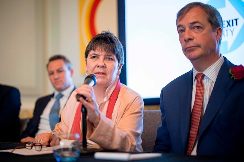 Unlikely bedfellows: Claire Fox and Nigel Farage: Tolga Akmen/AFP/Getty Images