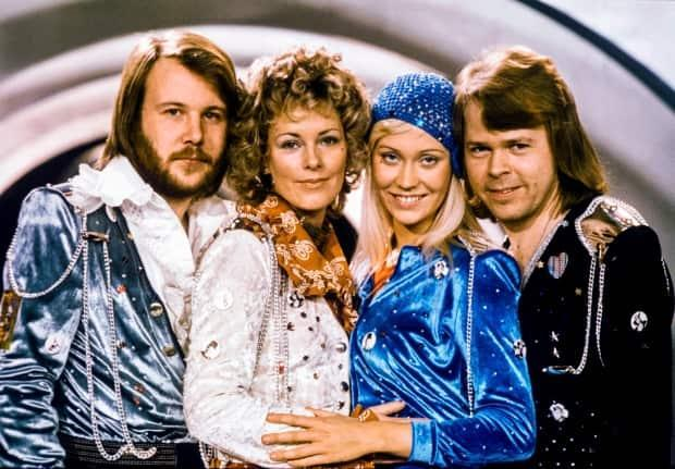 The band Abba, from left, Benny Andersson, Anni-Frid Lyngstad, Agnetha Fältskog and Björn Ulvaeus, seen in Stockholm in 1974, announced a new album and virtual concert Thursday.  (Olle Lindeborg/AFP/Getty Images - image credit)