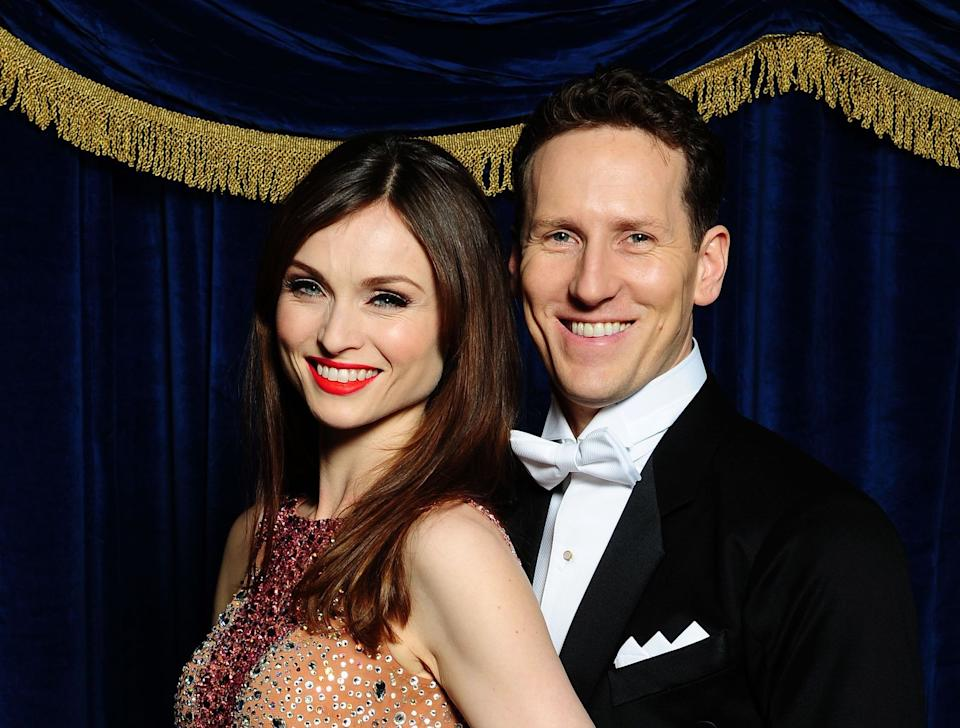 RETRANSMITTED REMOVING EMBARGO AND ADDING CAPTION INFORMATION Sophie Ellis-Bextor with her dance partner Brendan Cole wearing their favorite outfit from week 4 when they performed a foxtrot to Dick Haymes Cheek to Cheek, from the current series of Strictly Come Dancing, at Elstree Studios, London.   (Photo by Ian West/PA Images via Getty Images)