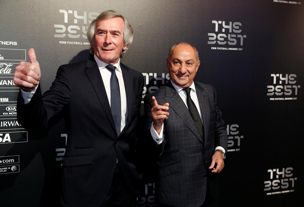 Soccer Football - The Best FIFA Football Awards - London Palladium, London, Britain - October 23, 2017   Former Tottenham players Ossie Ardiles and Pat Jennings pose before the start of the awards   Action Images via Reuters/John Sibley