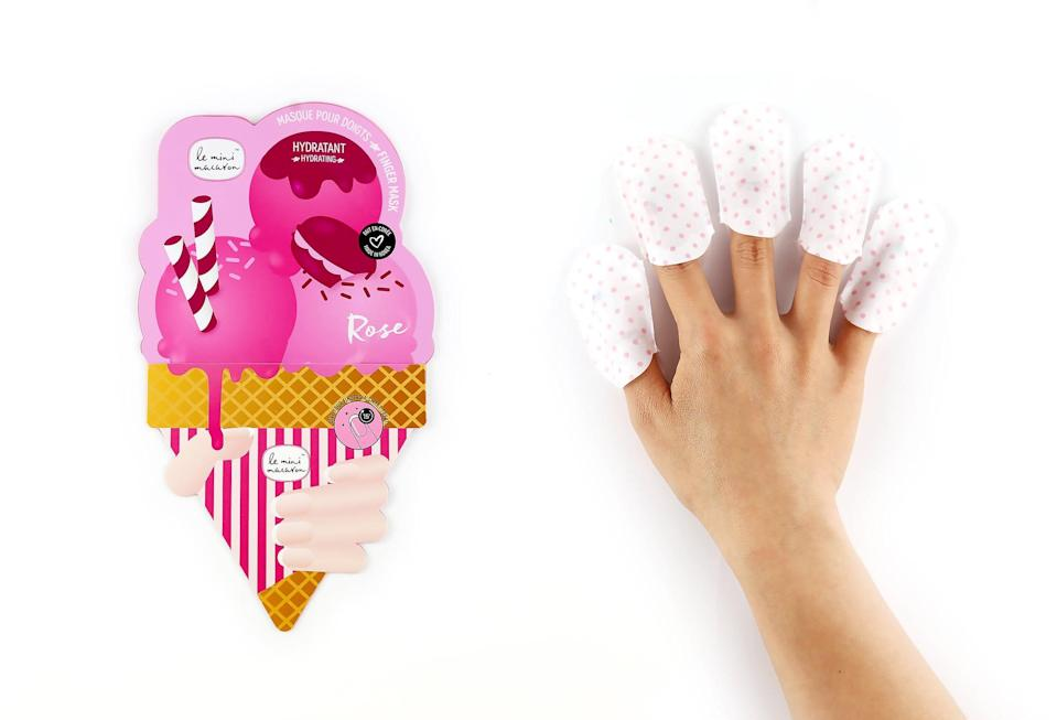 <p>Winter hands will need and appreciate these <span>Le Mini Macaron Rose Nail Masks</span> ($5) that restore moisture loss from constant washing, cold weather, and nonstop polish wear.</p>