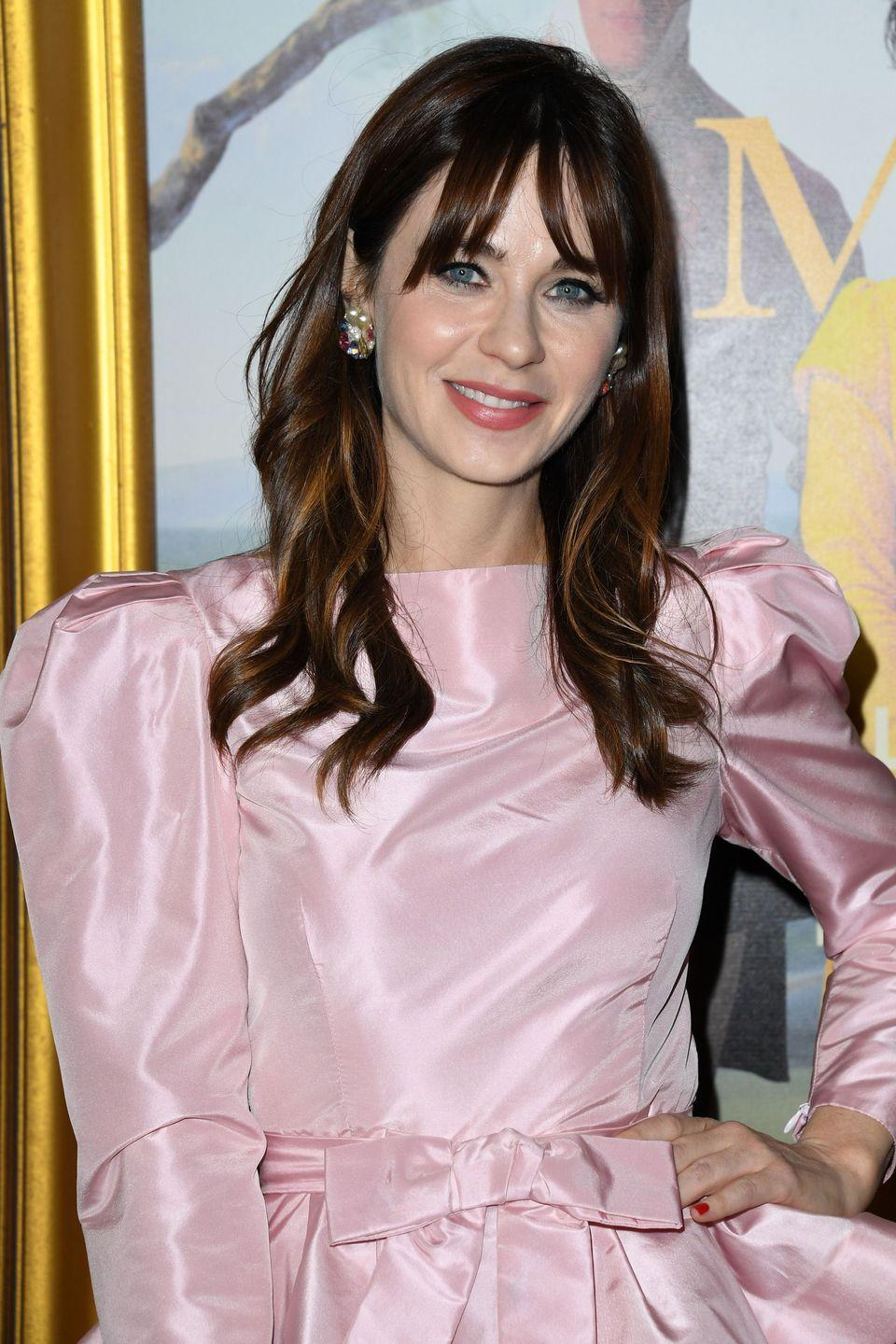 <p>This rich hue looks sweet when it's softened by choppy, eye-skimming bangs. <strong>Zooey Deschanel</strong> keeps her hair dark, and adds a few choice red-brown highlights throughout. </p>