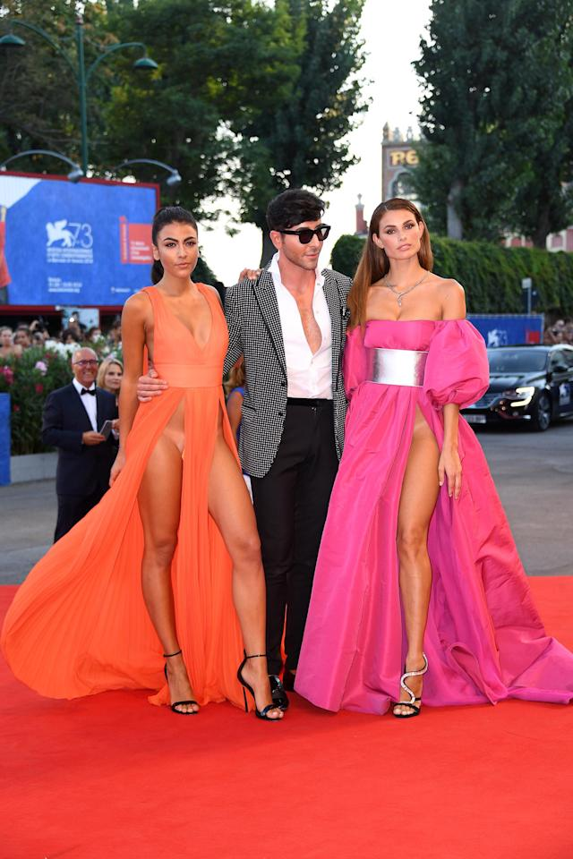 Dayane Mello and Giulia Salemi reveal almost all at the 73rd Venice Film Festival in Italy. (Photo by Venturelli/WireImage)