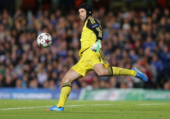Cech in action for Chelsea