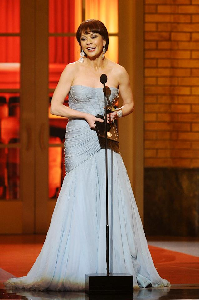 """Catherine Zeta-Jones won her first Tony award Sunday night for her performance in """"A Little Night Music."""" With an Oscar already in hand, the actress is now halfway to an EGOT (Emmy, Grammy, Oscar, Tony). Dimitrios Kambouris/<a href=""""http://www.wireimage.com"""" target=""""new"""">WireImage.com</a> - June 13, 2010"""