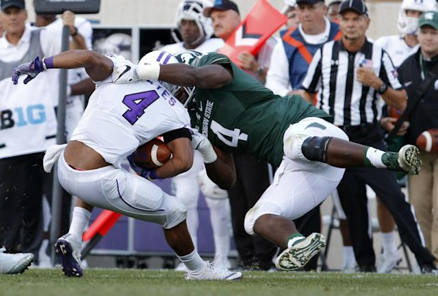 Michigan State DL Malik McDowell flashes dominant streaks but not nearly enough. (AP)