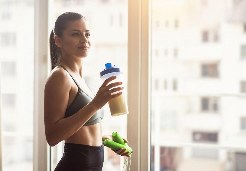"""<p>Starting your day with a simple protein shake sounds easy, until you realize you have to use and then wash a blender to do so. Cut that step out with something like the <a href=""""https://www.blenderbottle.com/products/just-for-fun"""" rel=""""nofollow noopener"""" target=""""_blank"""" data-ylk=""""slk:Blender Bottle"""" class=""""link rapid-noclick-resp"""">Blender Bottle</a>, which has a shaker ball inside that helps you shake up a perfect smooth protein shake on your own. </p>"""