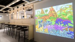 The store's projection wall. Photo: IKEA