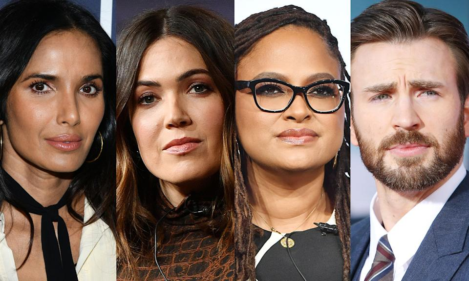 Padma Lakshmi, Mandy Moore, Ava DuVernay and Chris Evans reacted to President Trump's tweet as he left the hospital. (Photo: Getty Images)