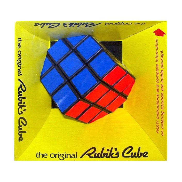 """<p><a class=""""link rapid-noclick-resp"""" href=""""https://www.amazon.com/Winning-Moves-5027-Rubiks-Cube/dp/B004FG0ZWI/ref=sr_1_5?tag=syn-yahoo-20&ascsubtag=%5Bartid%7C10063.g.34738490%5Bsrc%7Cyahoo-us"""" rel=""""nofollow noopener"""" target=""""_blank"""" data-ylk=""""slk:BUY NOW"""">BUY NOW</a><br></p><p>Released in 1980, Rubik's Cubes had a slow start with the first round of sales, even though the brain teaser was winning game awards all over the world.</p><p>But in 1981, the craze began when the first competition for the <em>Guinness Book of World Records</em> was held in Munich to see who could solve it the fastest. Later, there were multiple books published, containing tricks and tutorials on how to solve the cube, that hit best-seller lists. It's still considered a talent today if you can solve it.</p>"""