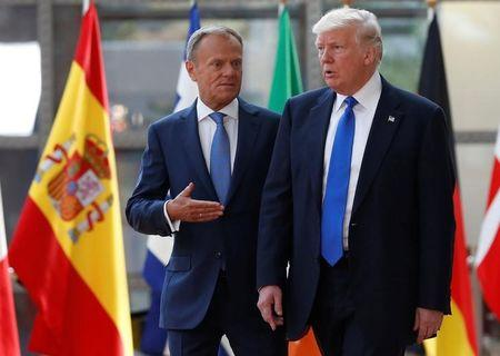 Trump meets European Union  chiefs in Brussels