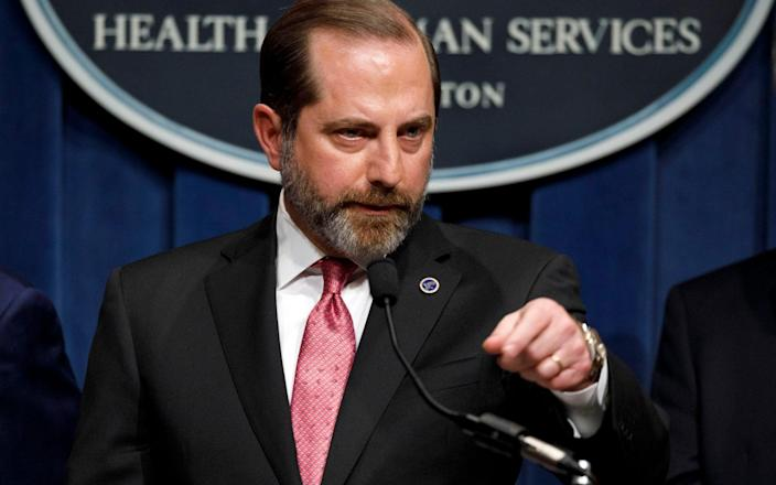 US Health Secretary Alex Azar will visit Taiwan over the coming days  - Jacquelyn Martin/AP