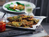 """<p>This is a cross between Bombay potatoes and rosti. You can also serve this with fried eggs, if you prefer.</p><p><a class=""""link rapid-noclick-resp"""" href=""""https://www.redonline.co.uk/food/recipes/a32728937/bombay-rosti-cakes-recipe/"""" rel=""""nofollow noopener"""" target=""""_blank"""" data-ylk=""""slk:BOMBAY ROSTI CAKES RECIPE"""">BOMBAY ROSTI CAKES RECIPE</a></p>"""