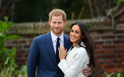 Prince Harry and Meghan Markle engagement photograph - Credit: Paul Grover for the Telegraph