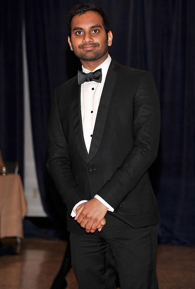 "Funnyman Aziz Ansari -- who plays underachieving Pawnee city employee/budding entrepreneur Tom Haverford on NBC's ""Parks and Recreation"" -- delivered some of his character's signature swagger in a dapper tux. The actor was invited to the dinner by <i>The New Yorker</i>."