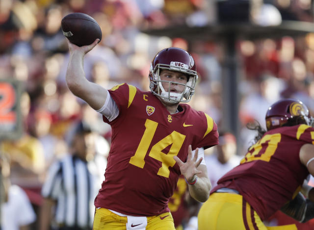 Sam Darnold and USC looked like they were firing on all cylinders on Saturday. (AP)