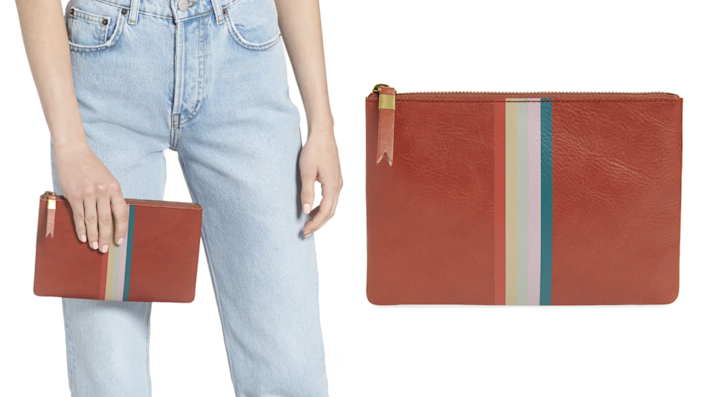 This Madewell clutch is a purse and wallet all in one.