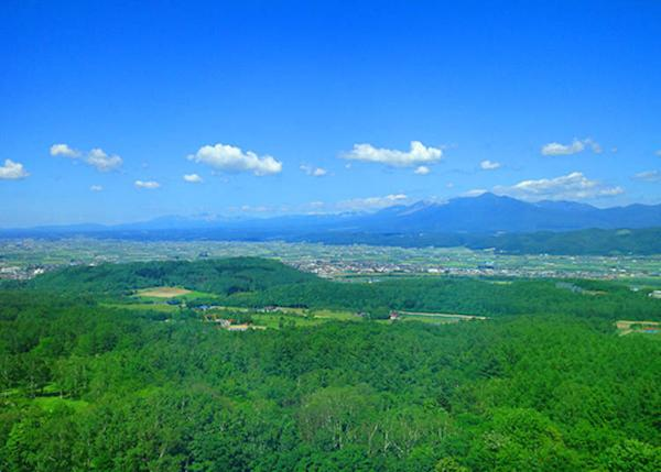 A view of the Furano Basin from the guest rooms on the Tokachi-dake side. The view from the suite rooms on the top floor of the Tokachi-dake side is spectacular!
