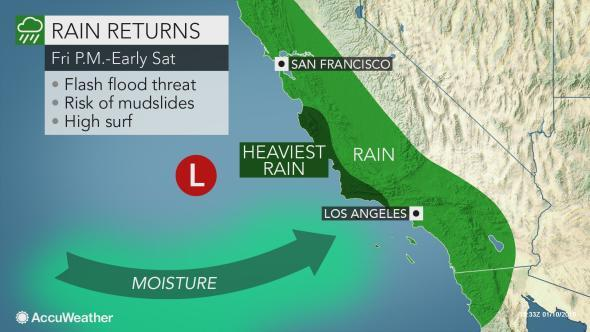 Static Cali Rain Friday PM to Sat