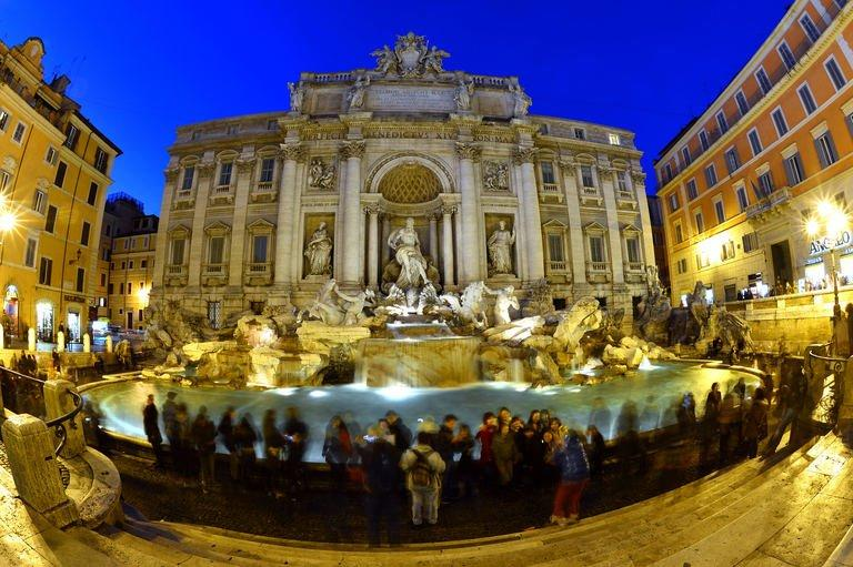 Rome's famous Trevi Fountain, on January 24, 2013