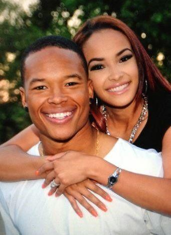 Marvin Jones and wife, Jazmyn Jones share an adorable picture with cute smiles on their faces
