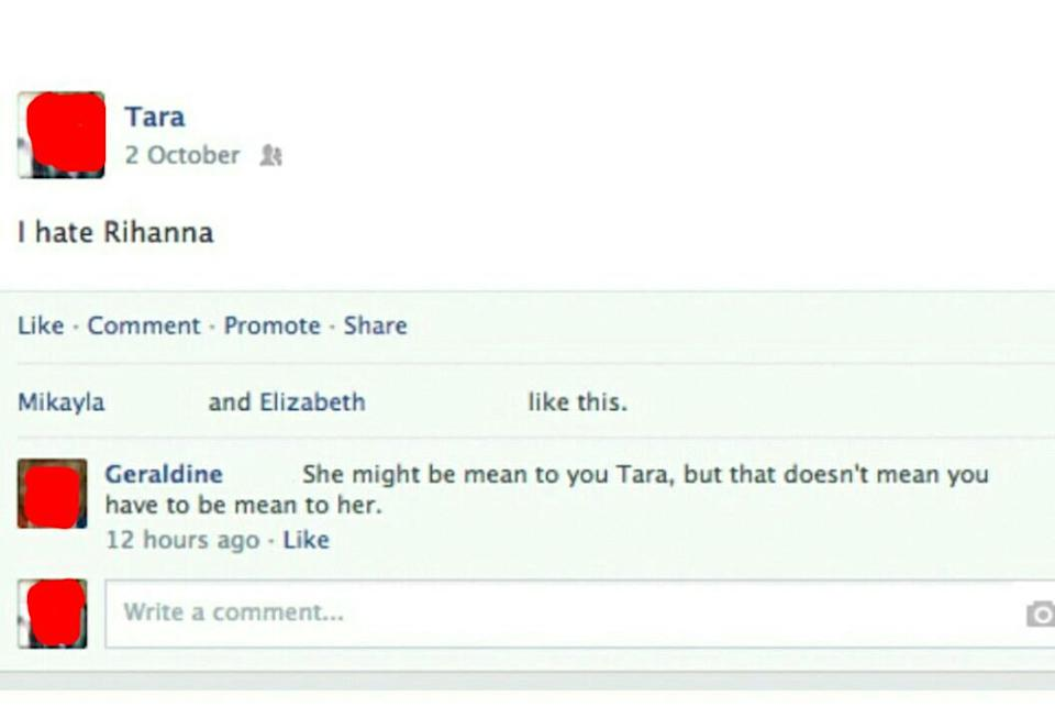 post reading i hate rihanna and grandma writes she might be mean to you but that doesn't mean you have to be mean to her