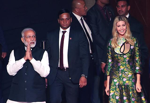 Ivanka Trump in India. (Photo: Getty Images)