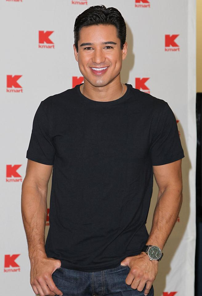 "LOS ANGELES, CA - OCTOBER 04: Mario Lopez Celebrates the launch of his new underwear line ""MaLo"" At KMart at KMart on October 4, 2012 in Los Angeles, California. (Photo by Jonathan Leibson/WireImage)"