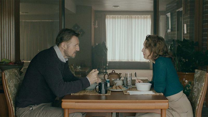 Liam Neeson and Lesley Manville in 'Ordinary Love'. (Credit: Focus Features/Universal)