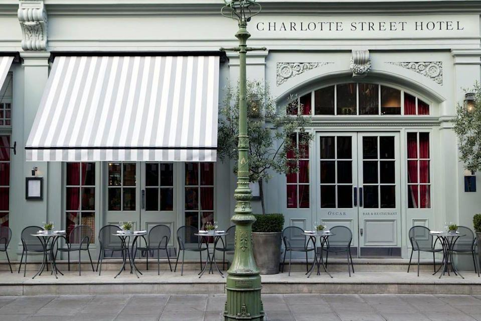 """<p><strong>The Skinny:</strong></p><p>If you like your hotels to feel like a slice of home - if your home is an impossibly plush, grand, but cosily decorated town house - then you should take a peek inside The Charlotte Street Hotel. </p><p>A favourite London lunch spot for the media, with plenty of magazine offices in the nearby surrounds, but also with the theatre-going crowd, as it is walking distance from all major West End stages. </p><p><a class=""""link rapid-noclick-resp"""" href=""""https://www.firmdalehotels.com/hotels/london/charlotte-street-hotel/rooms-suites/"""" rel=""""nofollow noopener"""" target=""""_blank"""" data-ylk=""""slk:BOOK NOW - Rooms Starting at £366"""">BOOK NOW - Rooms Starting at £366</a><br></p>"""
