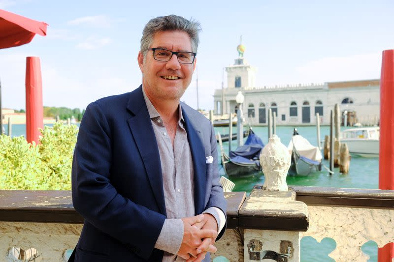 Robert Kunze-Concewitz, CEO Campari Group, poses before the inauguration of a new brand house for Aperol, in Venice, Italy