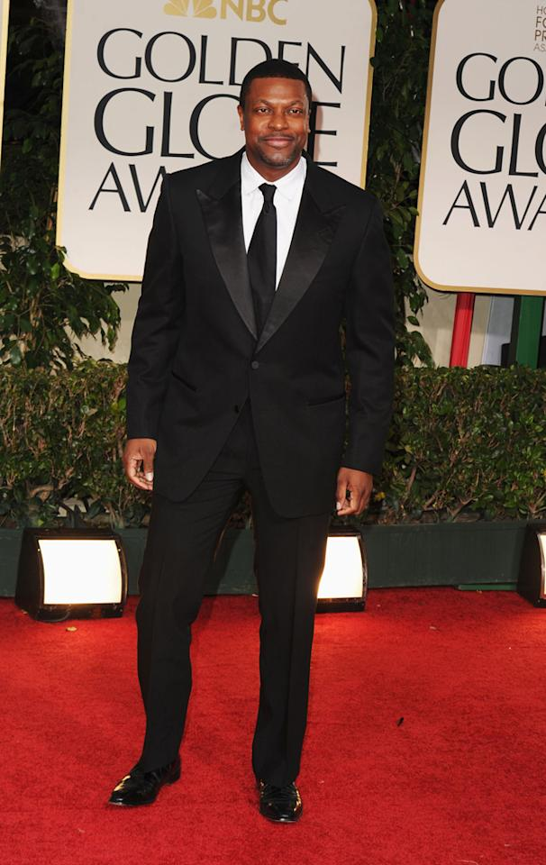 Chris Tucker arrives at the 69th Annual Golden Globe Awards in Beverly Hills, California, on January 15.